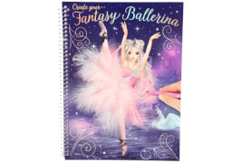 Depesche 10195 Create your Fantasy Model Malbuch mit Stickern BALLETT